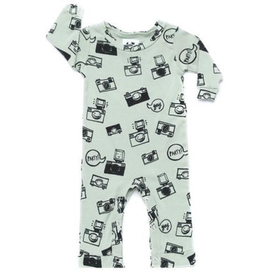 Kira Kids Camera Print Long Sleeve Onesie on Design Life Kids