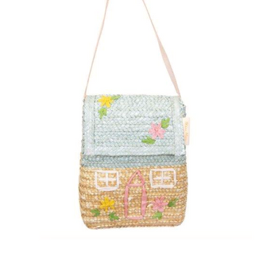 Meri Meri Cottage House Straw Bag at Design Life Kids