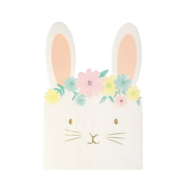 Meri Meri Floral Bunny Napkins at Design Life Kids