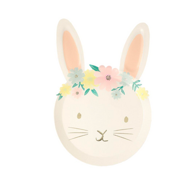 Meri Meri Floral Bunny Plate at Design Life Kids