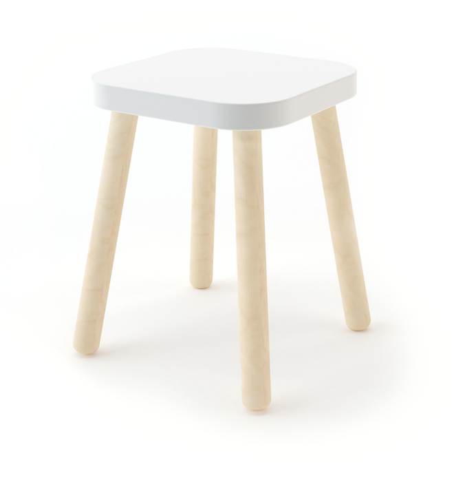 Oeuf Square Stool at Design Life Kids
