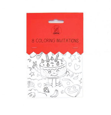 Omy Coloring Invitations at Design Life Kids