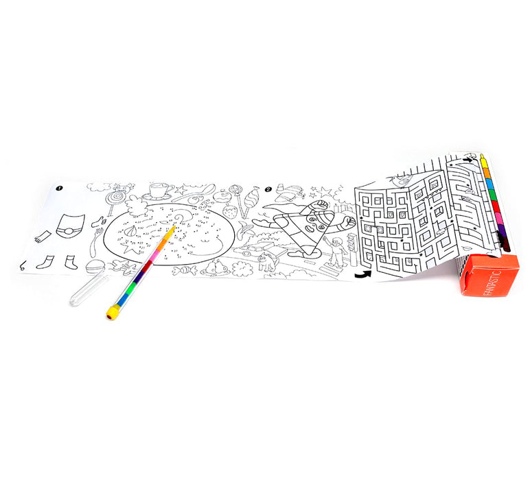 Omy Pocket Games Coloring Roll at Design Life Kids