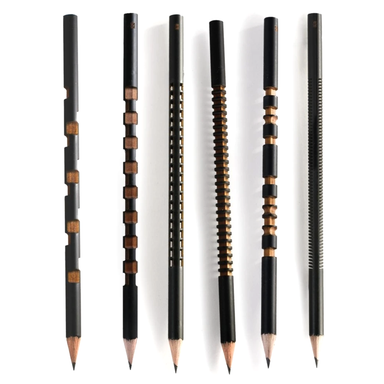Tat Tat Laser Sculpted Pencil Set on Design Life Kids