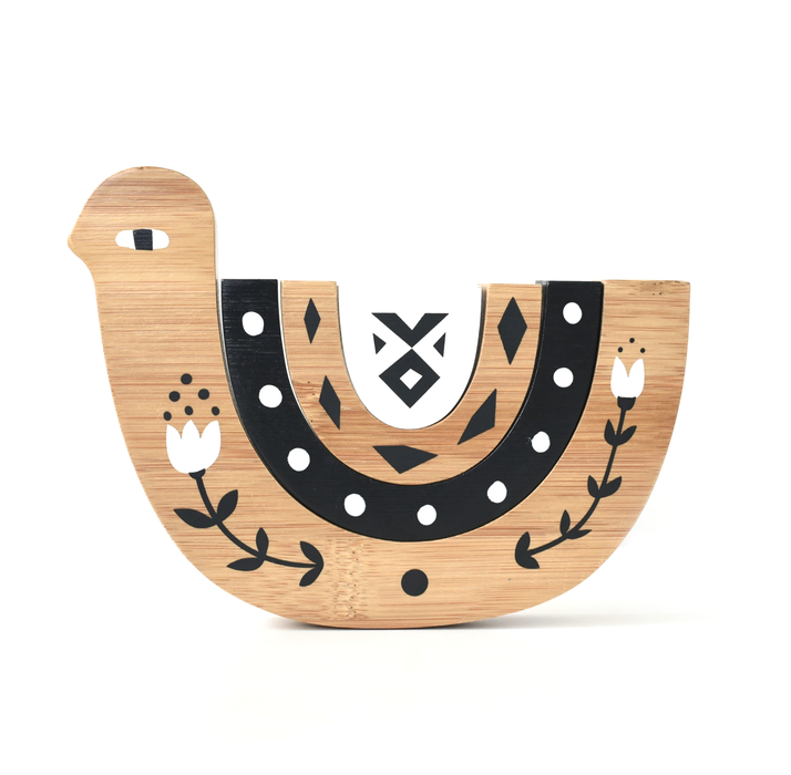 Wee Gallery Wooden Bamboo Nesting Bird on Design Life Kids