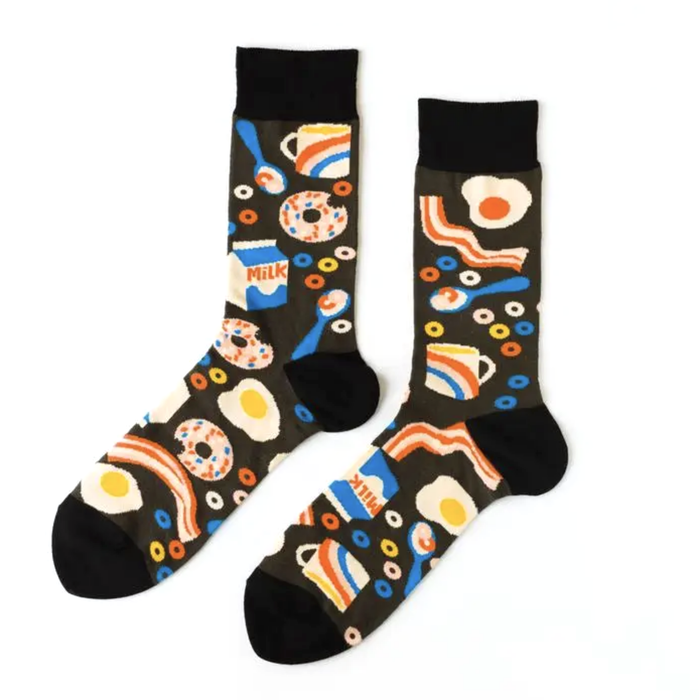 Yellow Owl Workshop Breakfast Socks on Design Life Kids