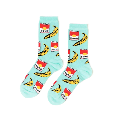 Yellow Owl Workshop Andy Warhol Pop Art Socks on Design Life Kids