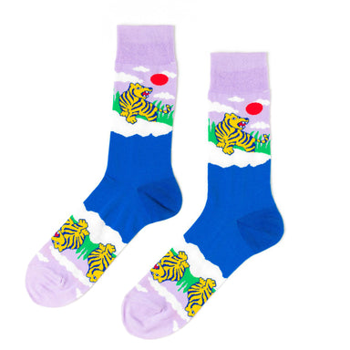 Yellow Owl Workshop Tiger Crew Socks on Design Life Kids