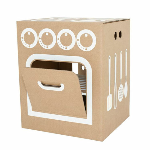 Flatout Frankie DIY Cardboard Kitchen Play Set on DLK