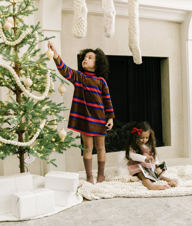 Mini Rodini Stripe Velour Dress on Design Life Kids