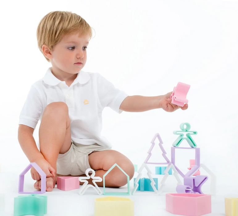 Dena Pastel Silicone Kids and House Set on Design Life Kids