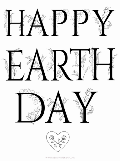 Free Earth Day Printables Coloring Pages on Design Life Kids