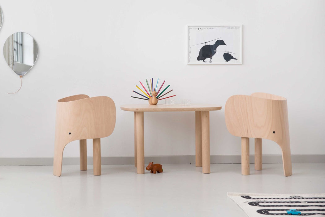Elements Optimal Elephant Table and Chair on DLK | designlifekids.com