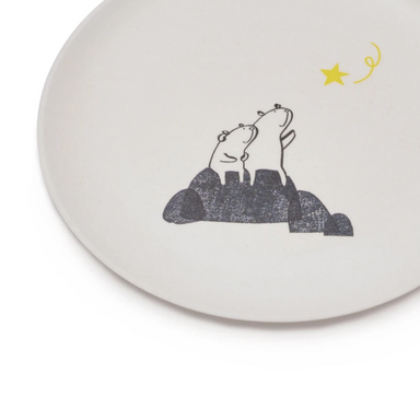 Fable New York Bears Wishing on a Star Bamboo Plate on Design Life Kids