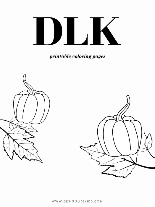 Free Seasons Fall Autumn Coloring Book Printable on Design Life Kids