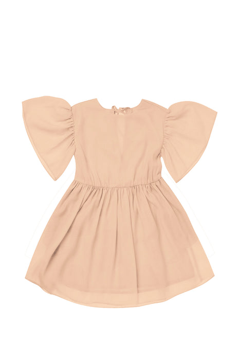 Flare Ruffle Sleeve Dress on Design Life Kids.
