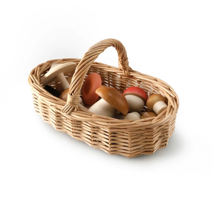 Forest Mushrooms Basket Toy Set on Design Life Kids