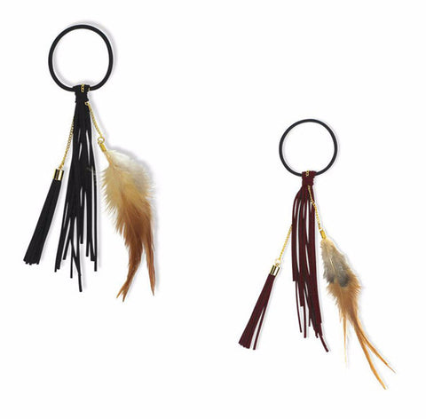 Milk & Soda FEATHER FRINGE ELASTIC ON DLK