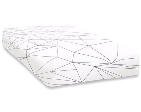 Ooh Noo GEOMETRIC WEB FITTED SHEET ON DLK