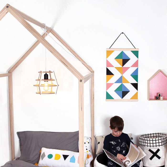 A Pom Pom Single House Bed Frame on DLK | designlifekids.com