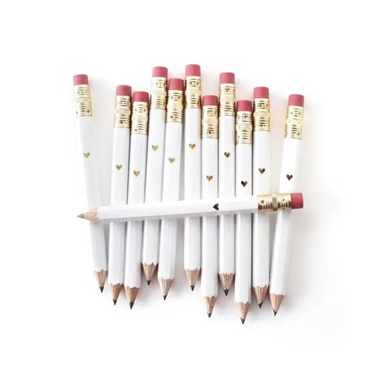 Inklings Paperie Gold Heart Mini Pencils on Design Life Kids