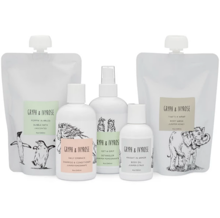 Gryph and IvyRose Daily Embrace 2-in-1 Natural Shampoo and Conditioner on Design Life Kids