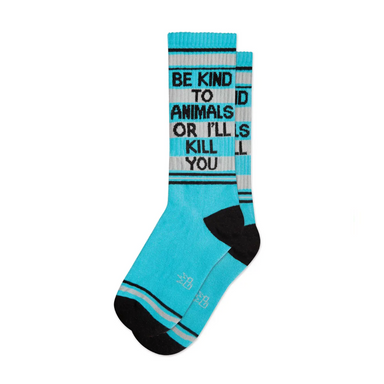 Gumball Poodle Be Kind to Animals Socks on Design Life Kids