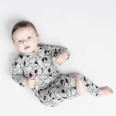 Huxbaby Puppy Love Zip Romper on DLK | designlifekids.com