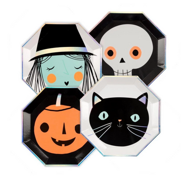 Halloween Character Party Plates on Design Life Kids