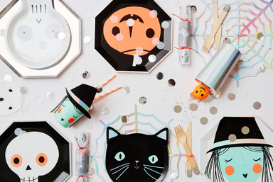 Fun and Modern Halloween Party Decorations on Design Life Kids