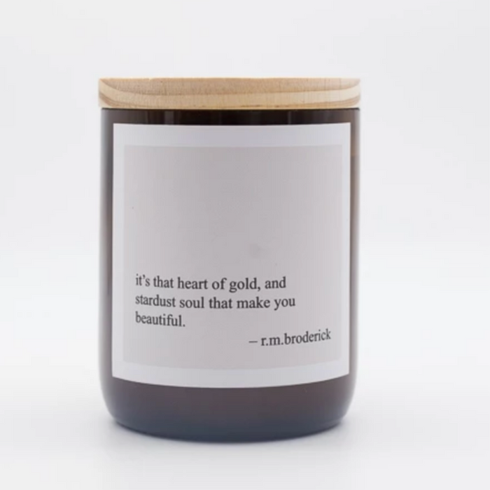 The Commonfolk Collective Heart of Gold Candle on Design Life Kids