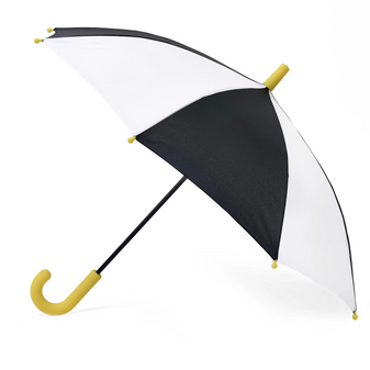 Hipster Kid Black and White Stripe Umbrella on Design Life Kids