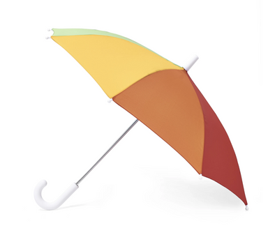 Hipster Kid Rainbow Stripe Umbrella on Design Life Kids