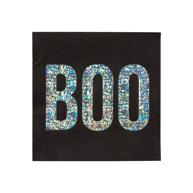 Meri Meri Holographic Halloween Boo Party Napkins on Design Life Kids