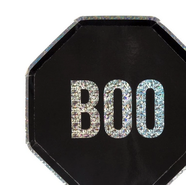 Holographic Boo Party Plates