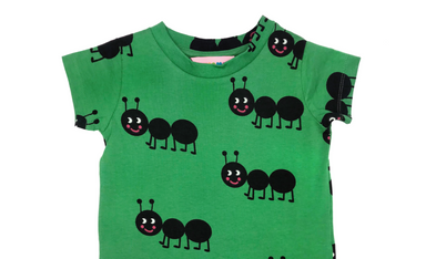 Hugo Loves Green Ants Tee on Design Life Kids
