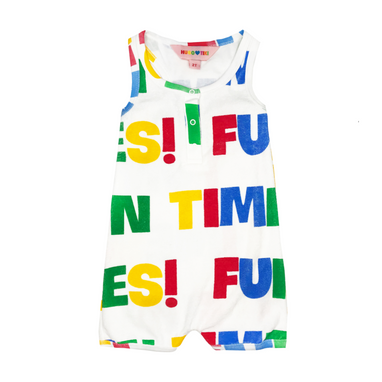 Hugo Loves Tiki Fun Times Romper on Design Life Kids