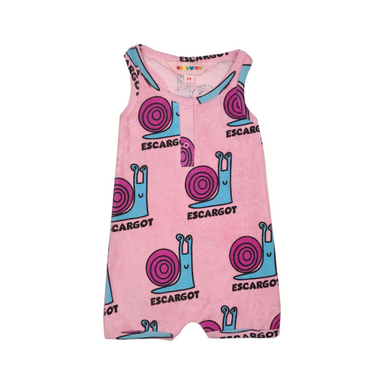 Hugo Loves Tiki Snails Romper on Design Life Kids