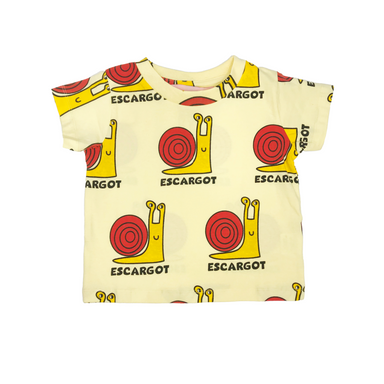 Hugo Loves Tiki Snail Shirt on Design Life Kids