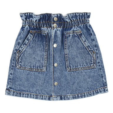 Hundred Pieces Denim Mini Skirt on Design Life Kids