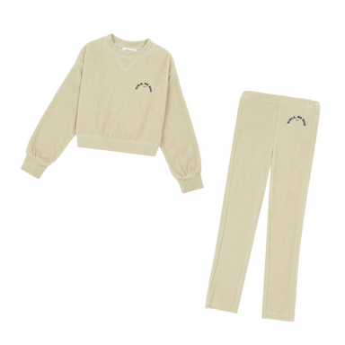 Hundred Pieces Girls Velvet Sweater on Design Life Kids