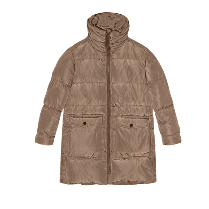 I Dig Denim  Beige Puffer Jacket on Design Life Kids