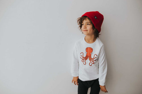 Whistle & Flute Kawaii Octopus Sweatshirt on DLK | designlifekids.com