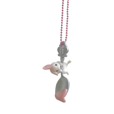 Pop Cutie Chocolate Spoon Bunny Necklace on DLK | designlifekids.com