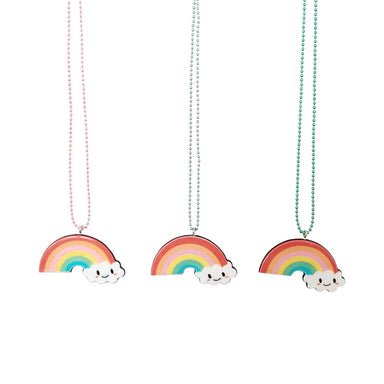 Pop Cutie Kawaii Rainbow Cloud Necklace on DLK | designlifekids.com