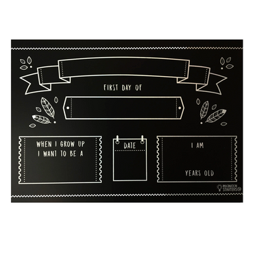 First Day of School Chalkboard Placemat on Design Life Kids