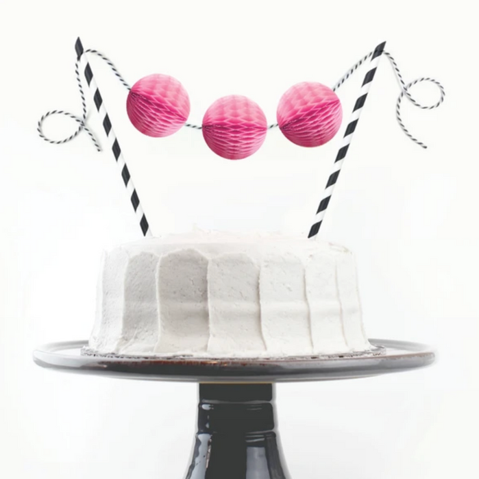 Inklings Paperie Modern Honeycomb Cake Topper on Design Life Kids