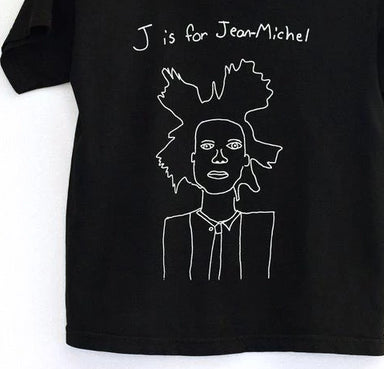 Anchors and Asteroids J is for Jean-Michel Basquiat Tee Shirt on Design Life Kids