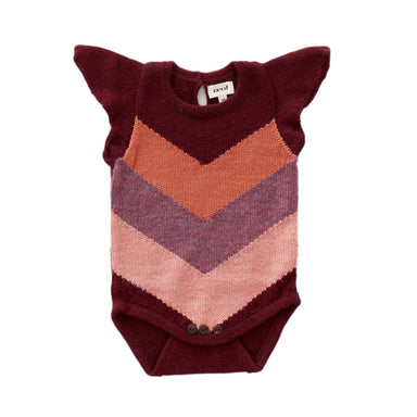Oeuf Chevron Knit Onesie on Design Life Kids