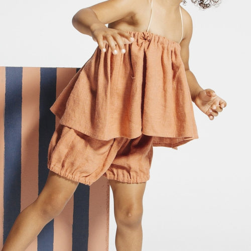 Telegraph Ave Linen Bloomer Shorts on DLK
